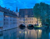 Heilig-Geist-Spital au crépuscule Photos libres de droits