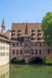 Heilig Geist Spital em Nuremberg, Alemanha, 2015 Fotos de Stock