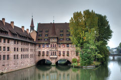 Heilig-Geist-Spital histórico Foto de archivo libre de regalías