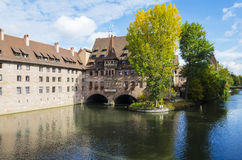 Heilig-Geist-Spital or Hospital of the Holy Spirit, Nuremberg, Germany Stock Photography