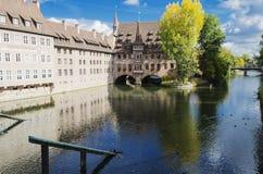 Heilig-Geist-Spital or Hospital of the Holy Spirit, Nuremberg, Germany Stock Image