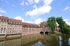 Heilig-Geist-Spital - Nürnberg/Norimberga, Germania Immagini Stock