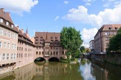 Heilig-Geist-Spital - Nürnberg/Nuremberg, Alemania Imagenes de archivo