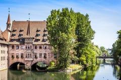 Heilig Geist Spital Nuremberg Bavaria Germany Stock Photo