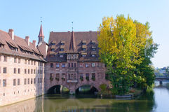 Heilig-Geist-Spital in Nuremberg, Germany Royalty Free Stock Photo