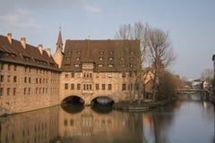 Heilig-Geist-Spital (Nuremberg). Heilig-Geist-Spital  in Nuremberg, Germany. 2014 Royalty Free Stock Photos