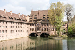 Heilig-Geist Spital in Nuremberg Stock Photos