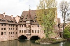 Heilig-Geist Spital in Nuremberg Stock Photos