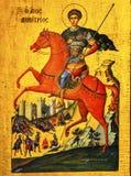 Heilig-George Golden Icon Saint George-Kirche Madaba Jordanien Lizenzfreies Stockbild