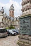 Heilig-Gilles-Rathausgebäude in Brüssel stockbild