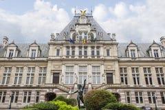 Heilig-Gilles-Rathausgebäude in Brüssel stockfotografie