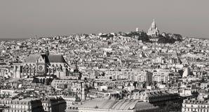 Heilig Hart bij de top van Montmartre, Parijs Stock Afbeeldingen