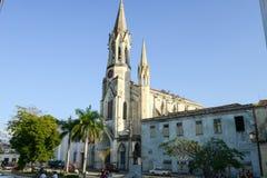 Heilig Hart van Jesus Cathedral bij Marti-park in Camaguey Royalty-vrije Stock Foto