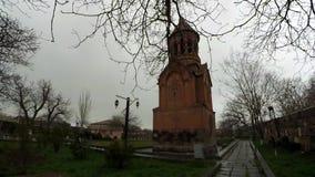 Heilig-heilige Mutter der Gott-Kirche in Eghvard, Armenien stock video