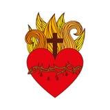 Heilig het hartpictogram van Jesus stock illustratie