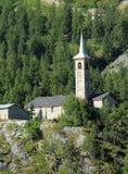Heilig-Jacques d'Assyrie Kirche bei Tignes, Frankreich Lizenzfreie Stockfotos