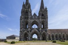 Heilig-Jean-DES-vignes Abtei, Soissons, Frankreich Stockbild