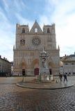 Heilig-Jean-Kathedrale, Lyon Lizenzfreies Stockbild