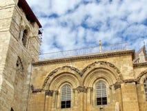 Heilig Jeruzalem begraaft vensters December 2012 Royalty-vrije Stock Foto
