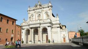 Heilig Katholiek Marian Sanctuary in de stad van Fontanellato, Parma, Italië stock footage