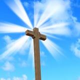 Heilig kruis onder een heldere zon Royalty-vrije Stock Foto
