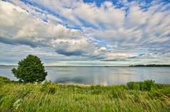 Heilig-Laurent Fluss, Montréal Stockfotografie