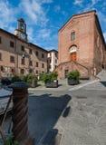 Heilig-LEONARDO und Lorenzo Church, in Castelfiorentino, Italien Stockfotografie
