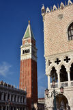 Heilig-Mark Square-Marksteine in Venedig Lizenzfreie Stockfotografie