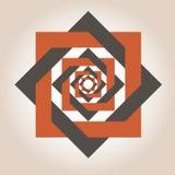 Vierkante geometrische ontwerpen Stock Afbeelding
