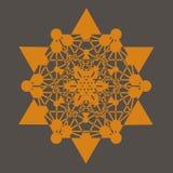 De druk van de Tetrageder van de ster Stock Afbeelding