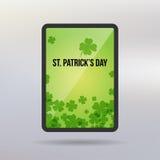 Heilig-Patrick Day-Tablettenvektorhintergrund Lizenzfreie Stockfotografie