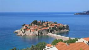Heilig-Stefan-Insel, Montenegro stock video footage
