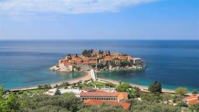 Heilig-Stefan-Insel, Montenegro stock footage
