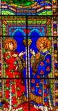 Heilig-Stephen Stained Glass Window Duomo-Kathedrale Florence Ital lizenzfreie stockbilder