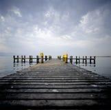 Heilig--Sulpicehimmel der Meerblick-Schweiz Waadt bewölkt Boots-Dock lizenzfreies stockbild