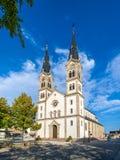 Heilig-Symphorienkirche von Illkirch-Graffenstaden - Elsass, Fran lizenzfreies stockbild