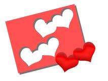Heilig-Valentinsgruß? s-Tagesdekoration lizenzfreie abbildung