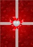 Heilig-Valentinstag-Grußkarte Lizenzfreie Stockfotografie