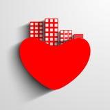 Heilig-Valentinstag-Hintergrund-, Grußkarten- oder Geschenkkartenesprit Lizenzfreie Stockbilder
