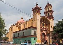 Heilig Veracruz Church Toluca DE Lerdo Mexico royalty-vrije stock afbeeldingen