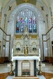 Heilig verandert bij de Kerk van Onderstel Carmel, Queens stock fotografie