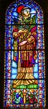 Heilig-Vincent Stained Glass The Se-Kathedrale Lissabon Portugal stockfoto