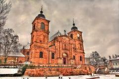 Heilig-Würfel-Kathedrale in Heilig-Würfel-DES-Vosges - Frankreich lizenzfreies stockfoto