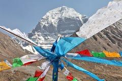 Heilig zet Kailash in Tibet op royalty-vrije stock fotografie
