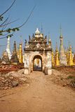 Heiligdom Shwe in Tain Stock Afbeeldingen