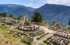 Heiligdom van Athena Pronaia, Delphi, Griekenland Royalty-vrije Stock Foto's