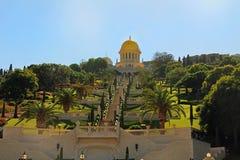 Heiligdom van Bab en zijn Tuinen in Haifa Israel royalty-vrije stock foto's