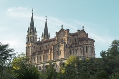 Heiligdom van Covadonga, Asturias, Picos DE Europa, Spanje Stock Afbeeldingen