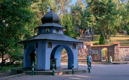Heiligdom van de Grabarka het Orthodoxe Kerk stock fotografie