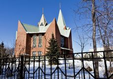 Heiligdom van de Onbevlekte Ontvangenis van Heilige Maagdelijke Mary, in de winter Royalty-vrije Stock Foto